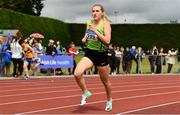 6 July 2019; Carla Sweeney of Rathfarnham W.S.A.F. A.C., Co.Dublin, on her way to winning the U23 1500m event during the Irish Life Health Junior and U23 Outdoor Track and Field Championships at Tullamore Harriers Stadium, Tullamore in Offaly. Photo by Sam Barnes/Sportsfile