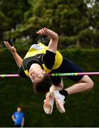 6 July 2019; Ryan Carthy Walshe of Adamstown A.C., Co. Wexford, competing in the U23 High Jump event during the Irish Life Health Junior and U23 Outdoor Track and Field Championships at Tullamore Harriers Stadium, Tullamore in Offaly. Photo by Sam Barnes/Sportsfile