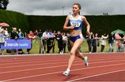 6 July 2019; Ava O'Connor of Tullamore Harriers A.C., Co.Offaly, on her way to winning the Junior 1500m during the Irish Life Health Junior and U23 Outdoor Track and Field Championships at Tullamore Harriers Stadium, Tullamore in Offaly. Photo by Sam Barnes/Sportsfile
