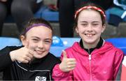 6 July 2019; Cork supporters Cora Harrington and Ruth O'Connor from Castletownbere, Co. Cork, before the GAA Football All-Ireland Senior Championship Round 4 match between Cork and Laois at Semple Stadium in Thurles, Tipperary. Photo by Matt Browne/Sportsfile