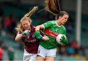 6 July 2019; Dayna Finn of Mayo is tackled by Louise Ward of Galway during the 2019 TG4 Connacht Ladies Senior Football Final replay between Galway and Mayo at the LIT Gaelic Grounds in Limerick. Photo by Brendan Moran/Sportsfile