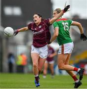 6 July 2019; Fabienne Cooney of Galway in action against Grace Kelly of Mayo during the 2019 TG4 Connacht Ladies Senior Football Final replay between Galway and Mayo at the LIT Gaelic Grounds in Limerick. Photo by Brendan Moran/Sportsfile