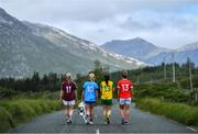 8 July 2019; #FollowOurJourney: The journey to Croke Park for the participating contenders in the 2019 TG4 Ladies Football Championships begins on Saturday, 13 July. Senior Champions Dublin will feature on a LIVE TG4 double-bill when they take on Munster runners-up Waterford, while Connacht Champions Galway are up against Kerry. 17 Championship games will be broadcast exclusively on TG4 throughout the summer, with the Senior and Intermediate championships to be played once again on a round-robin basis. You can follow the journey of all 32 teams involved in the Senior, Intermediate and Junior Championships, as they aim to make it Croke Park for TG4 All-Ireland Finals Sunday on 15 September. A number of top inter-county stars travelled to the spectacular Ballynahinch Castle Hotel in county Galway to mark the beginning of the TG4 All-Ireland series. Pictured are, from left, Tracey Leonard of Galway, Carla Rowe of Dublin, Geraldine McLaughlin of Donegal and Doireann OSullivan of Cork with the Brendan Martin Cup. #ProperFan. Photo by Brendan Moran/Sportsfile