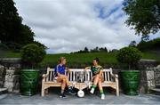 8 July 2019; #FollowOurJourney: The journey to Croke Park for the participating contenders in the 2019 TG4 Ladies Football Championships begins on Saturday, 13 July. Senior Champions Dublin will feature on a LIVE TG4 double-bill when they take on Munster runners-up Waterford, while Connacht Champions Galway are up against Kerry. 17 Championship games will be broadcast exclusively on TG4 throughout the summer, with the Senior and Intermediate championships to be played once again on a round-robin basis. You can follow the journey of all 32 teams involved in the Senior, Intermediate and Junior Championships, as they aim to make it Croke Park for TG4 All-Ireland Finals Sunday on 15 September. A number of top inter-county stars travelled to the spectacular Ballynahinch Castle Hotel in county Galway to mark the beginning of the TG4 All-Ireland series. Pictured are Samantha Lambert of Tipperary, left, and Máire O'Shaughnessy of Meath with the Mary Quinn Memorial Cup. #ProperFan. Photo by Brendan Moran/Sportsfile