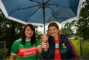 6 July 2019; Mayo supporters, from left, Julie Doherty and Dolores Doyle from Headford, Co.Galway ahead of the GAA Football All-Ireland Senior Championship Round 4 match between Galway and Mayo at the LIT Gaelic Grounds in Limerick. Photo by Eóin Noonan/Sportsfile