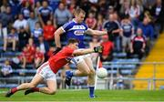 6 July 2019; Donal Kingston of Laois in action against Kevin O'Donovan of Cork during the GAA Football All-Ireland Senior Championship Round 4 match between Cork and Laois at Semple Stadium in Thurles, Tipperary. Photo by Matt Browne/Sportsfile