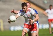 6 July 2019; Ronan McNamee of Tyrone in action against Cian Mackey of Cavan during the GAA Football All-Ireland Senior Championship Round 4 match between Cavan and Tyrone at St.Tiernach's Park in Clones, Monaghan. Photo by Oliver McVeigh/Sportsfile