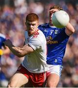 6 July 2019; Cathal McShane of Tyrone in action against Padraig Faulkner of Cavan during the GAA Football All-Ireland Senior Championship Round 4 match between Cavan and Tyrone at St.Tiernach's Park in Clones, Monaghan. Photo by Oliver McVeigh/Sportsfile