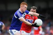 6 July 2019; Colm Murphy of Laois in action against James Loughrey of Cork during the GAA Football All-Ireland Senior Championship Round 4 match between Cork and Laois at Semple Stadium in Thurles, Tipperary. Photo by Matt Browne/Sportsfile