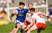 6 July 2019; Conor Moynagh of Cavan in action against Conor Meyler of Tyrone  during the GAA Football All-Ireland Senior Championship Round 4 match between Cavan and Tyrone at St.Tiernach's Park in Clones, Monaghan. Photo by Oliver McVeigh/Sportsfile