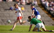 6 July 2019; Ben McDonnell of Tyrone shoots to score his side's first goal during the GAA Football All-Ireland Senior Championship Round 4 match between Cavan and Tyrone at St. Tiernach's Park in Clones, Monaghan. Photo by Ben McShane/Sportsfile