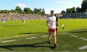 6 July 2019; Peter Harte of Tyrone comes off the field after having received a late black card during the GAA Football All-Ireland Senior Championship Round 4 match between Cavan and Tyrone at St. Tiernach's Park in Clones, Monaghan. Photo by Oliver McVeigh/Sportsfile