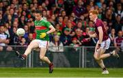 6 July 2019; Stephen Coen of Mayo in action against Peter Cooke of Galway during the GAA Football All-Ireland Senior Championship Round 4 match between Galway and Mayo at the LIT Gaelic Grounds in Limerick. Photo by Brendan Moran/Sportsfile