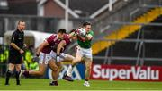 6 July 2019; Patrick Durcan of Mayo in action against Cillian McDaid of Galway during the GAA Football All-Ireland Senior Championship Round 4 match between Galway and Mayo at the LIT Gaelic Grounds in Limerick. Photo by Brendan Moran/Sportsfile