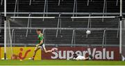 6 July 2019; James Carr of Mayo celebrates after scoring his side's second goal during the GAA Football All-Ireland Senior Championship Round 4 match between Galway and Mayo at the LIT Gaelic Grounds in Limerick. Photo by Brendan Moran/Sportsfile