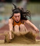 6 July 2019; Aisling Cassidy of Leevale AC, Co. Cork, competing in the Junior Triple Jump  during the Irish Life Health Junior and U23 Outdoor Track and Field Championships at Tullamore Harriers Stadium, Tullamore in Offaly. Photo by Sam Barnes/Sportsfile