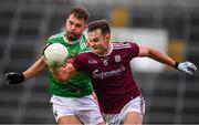 6 July 2019; Cillian McDaid of Galway in action against Aidan O'Shea of Mayo during the GAA Football All-Ireland Senior Championship Round 4 match between Galway and Mayo at the LIT Gaelic Grounds in Limerick. Photo by Brendan Moran/Sportsfile