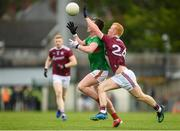 6 July 2019; Cillian O'Connor of Mayo in action against Declan Kyne of Galway during the GAA Football All-Ireland Senior Championship Round 4 match between Galway and Mayo at the LIT Gaelic Grounds in Limerick. Photo by Eóin Noonan/Sportsfile