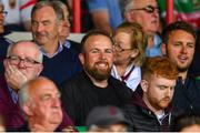 6 July 2019; Irish golfer Shane Lowry in attendance during the GAA Football All-Ireland Senior Championship Round 4 match between Galway and Mayo at the LIT Gaelic Grounds in Limerick. Photo by Brendan Moran/Sportsfile