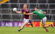 6 July 2019; Declan Kyne of Galway is tackled by Fionn McDonagh of Mayo during the GAA Football All-Ireland Senior Championship Round 4 match between Galway and Mayo at the LIT Gaelic Grounds in Limerick. Photo by Brendan Moran/Sportsfile
