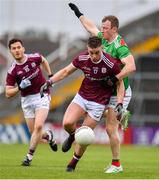 6 July 2019; Eamonn Brannigan of Galway is tackled by Colm Boyle of Mayo during the GAA Football All-Ireland Senior Championship Round 4 match between Galway and Mayo at the LIT Gaelic Grounds in Limerick. Photo by Brendan Moran/Sportsfile