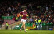 6 July 2019; Damien Comer of Galway makes his way out to the pitch for the second half during the GAA Football All-Ireland Senior Championship Round 4 match between Galway and Mayo at the LIT Gaelic Grounds in Limerick. Photo by Eóin Noonan/Sportsfile