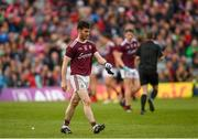6 July 2019; Ian Burke of Galway after being sent off during the GAA Football All-Ireland Senior Championship Round 4 match between Galway and Mayo at the LIT Gaelic Grounds in Limerick. Photo by Eóin Noonan/Sportsfile