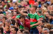 6 July 2019; A Mayo supporter cheers on his team during the GAA Football All-Ireland Senior Championship Round 4 match between Galway and Mayo at the LIT Gaelic Grounds in Limerick. Photo by Brendan Moran/Sportsfile