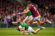 6 July 2019; Colm Boyle of Mayo in action against Michael Daly of Galway during the GAA Football All-Ireland Senior Championship Round 4 match between Galway and Mayo at the LIT Gaelic Grounds in Limerick. Photo by Brendan Moran/Sportsfile