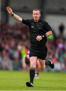 6 July 2019; Referee Joe McQuillan during the GAA Football All-Ireland Senior Championship Round 4 match between Galway and Mayo at the LIT Gaelic Grounds in Limerick. Photo by Brendan Moran/Sportsfile
