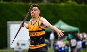 6 July 2019; Cathal Scanlon of Leevale A.C., Co.Cork, competing in the Junior Javelin during the Irish Life Health Junior and U23 Outdoor Track and Field Championships at Tullamore Harriers Stadium, Tullamore in Offaly. Photo by Sam Barnes/Sportsfile