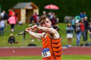 6 July 2019; Joseph McEvoy of Nenagh Olympic A.C., Co. Tipperary, competing in the Junior Javelin during the Irish Life Health Junior and U23 Outdoor Track and Field Championships at Tullamore Harriers Stadium, Tullamore in Offaly. Photo by Sam Barnes/Sportsfile