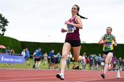 6 July 2019; Claire Fagan of Mullingar Harriers A.C., Co.Westmeath, competing in the U23 3000m event during the Irish Life Health Junior and U23 Outdoor Track and Field Championships at Tullamore Harriers Stadium, Tullamore in Offaly. Photo by Sam Barnes/Sportsfile