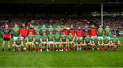 6 July 2019; The Mayo squad prior to the GAA Football All-Ireland Senior Championship Round 4 match between Galway and Mayo at the LIT Gaelic Grounds in Limerick. Photo by Brendan Moran/Sportsfile