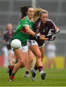 6 July 2019; Megan Glynn of Galway in action against Niamh Kelly of Mayo during the 2019 TG4 Connacht Ladies Senior Football Final replay between Galway and Mayo at the LIT Gaelic Grounds in Limerick. Photo by Brendan Moran/Sportsfile