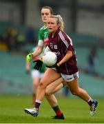 6 July 2019; Orla Murphy of Galway in action against Clodagh McManamon of Mayo during the 2019 TG4 Connacht Ladies Senior Football Final replay between Galway and Mayo at the LIT Gaelic Grounds in Limerick. Photo by Brendan Moran/Sportsfile
