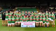 6 July 2019; The Mayo team prior to the 2019 TG4 Connacht Ladies Senior Football Final replay between Galway and Mayo at the LIT Gaelic Grounds in Limerick. Photo by Brendan Moran/Sportsfile