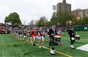 5 May 2019; Both teams in the parade before the Connacht GAA Football Senior Championship Quarter-Final match between New York and Mayo at Gaelic Park in New York, USA. Photo by Piaras Ó Mídheach/Sportsfile