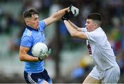 6 July 2019; Luke Swan of Dublin in action against Conan Boran of Kildare during the Electric Ireland Leinster GAA Football Minor Championship Final match between Dublin and Kildare at Páirc Tailteann in Navan, Meath. Photo by Piaras Ó Mídheach/Sportsfile