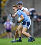 6 July 2019; Alex Rogers of Dublin in action against Kevin Eustace of Kildare during the Electric Ireland Leinster GAA Football Minor Championship Final match between Dublin and Kildare at Páirc Tailteann in Navan, Meath. Photo by Piaras Ó Mídheach/Sportsfile