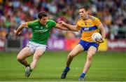 7 July 2019; Gary Brennan of Clare in action against Padraic Harnan of Meath during the GAA Football All-Ireland Senior Championship Round 4 match between Meath and Clare at O'Moore Park in Portlaoise, Laois. Photo by Sam Barnes/Sportsfile