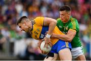 7 July 2019; Jamie Malone of Clare in action against Gavin McCoy of Meath during the GAA Football All-Ireland Senior Championship Round 4 match between Meath and Clare at O'Moore Park in Portlaoise, Laois. Photo by Sam Barnes/Sportsfile