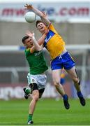 7 July 2019; Seán O'Donoghue of Clare in action against Shane McEntee of Meath during the GAA Football All-Ireland Senior Championship Round 4 match between Meath and Clare at O'Moore Park in Portlaoise, Laois. Photo by Piaras Ó Mídheach/Sportsfile