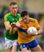 7 July 2019; Jamie Malone of Clare in action against Conor McGill of Meath during the GAA Football All-Ireland Senior Championship Round 4 match between Meath and Clare at O'Moore Park in Portlaoise, Laois. Photo by Sam Barnes/Sportsfile