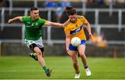 7 July 2019; Cian O'Dea of Clare in action against Shane McEntee of Meath during the GAA Football All-Ireland Senior Championship Round 4 match between Meath and Clare at O'Moore Park in Portlaoise, Laois. Photo by Sam Barnes/Sportsfile
