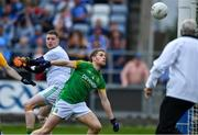 7 July 2019; Shane Gallagher of Meath and his goalkeeper Andrew Colgan look on as the ball goes towards the net for Clare's first goal, scored by Gavin Cooney of Clare during the GAA Football All-Ireland Senior Championship Round 4 match between Meath and Clare at O'Moore Park in Portlaoise, Laois. Photo by Piaras Ó Mídheach/Sportsfile