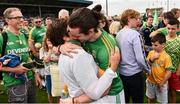7 July 2019; Cillian O'Sullivan of Meath celebrates with supporters following the GAA Football All-Ireland Senior Championship Round 4 match between Meath and Clare at O'Moore Park in Portlaoise, Laois. Photo by Sam Barnes/Sportsfile