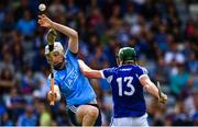 7 July 2019; Shane Barrett of Dublin in action against Willie Dunphy of Laois during the GAA Hurling All-Ireland Senior Championship preliminary round quarter-final match between Laois and Dublin at O'Moore Park in Portlaoise, Laois. Photo by Sam Barnes/Sportsfile