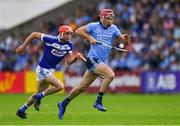 7 July 2019; Danny Sutcliffe of Dublin in action against Jack Kelly of Laois during the GAA Hurling All-Ireland Senior Championship preliminary round quarter-final match between Laois and Dublin at O'Moore Park in Portlaoise, Laois. Photo by Piaras Ó Mídheach/Sportsfile