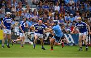 7 July 2019; Jack Kelly of Laois in action against Conal Keaney of Dublin during the GAA Hurling All-Ireland Senior Championship preliminary round quarter-final match between Laois and Dublin at O'Moore Park in Portlaoise, Laois. Photo by Sam Barnes/Sportsfile